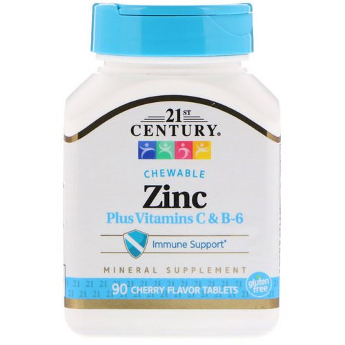 21st Century, Zinc Plus Vitamins C & B-6, Cherry Flavor, 90 Chewable Tablets Review