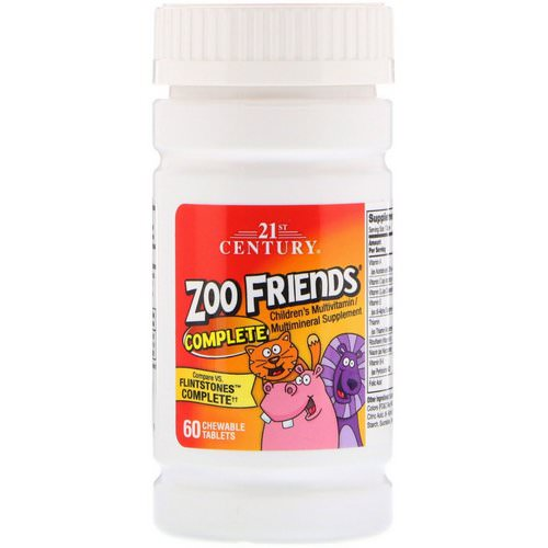 21st Century, Zoo Friends Complete, Children's Multivitamin / Multimineral Supplement, 60 Chewable Tablets Review