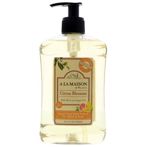 A La Maison de Provence, Hand & Body Liquid Soap, Citrus Blossom, 16.9 fl oz (500 ml) Review