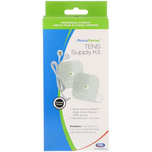 AccuRelief, TENS Supply Kit, 4 Sets of 2 Electrode Pads & 1 Lead Wire Review
