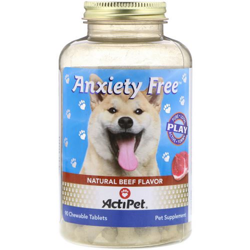 Actipet, Anxiety Free, Natural Beef Flavor, 90 Chewable Tablets Review