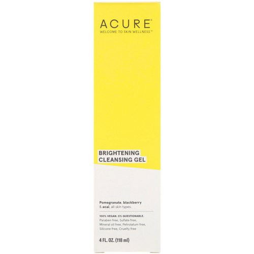 Acure, Brightening Cleansing Gel, 4 fl oz (118 ml) Review