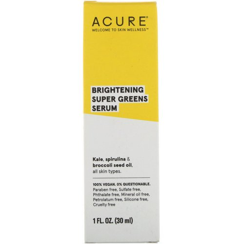 Acure, Brightening, Super Greens Serum, 1 fl oz (30 ml) Review