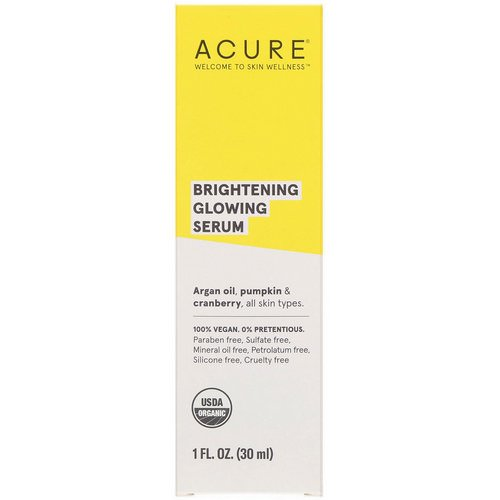 Acure, Brilliantly Brightening, Glowing Serum, 1 fl oz (30 ml) Review