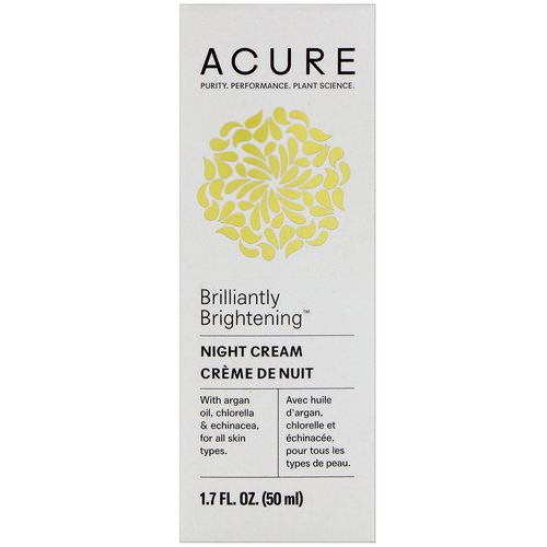 Acure, Brilliantly Brightening, Night Cream, 1.7 fl oz (50 ml) Review