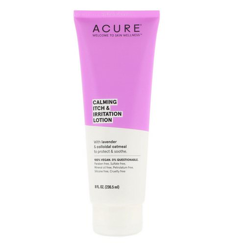 Acure, Calming Itch & Irritation Lotion, 8 fl oz (236.5 ml) Review