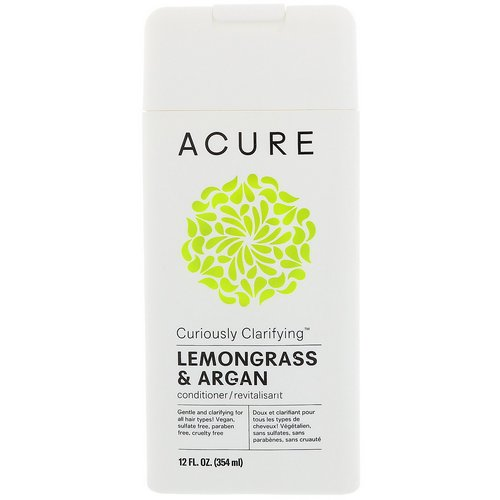 Acure, Curiously Clarifying Conditioner, Lemongrass & Argan, 12 fl oz (354 ml) Review