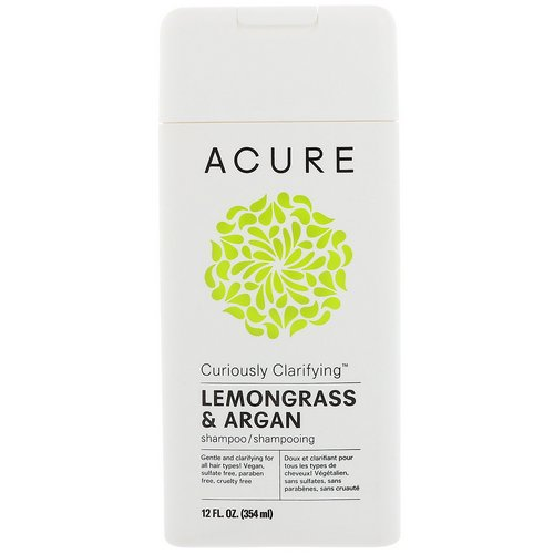 Acure, Curiously Clarifying Shampoo, Lemongrass & Argan, 12 fl oz (354 ml) Review