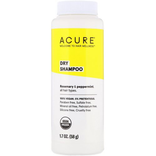 Acure, Dry Shampoo, Rosemary & Peppermint, 1.7 oz (58 g) Review