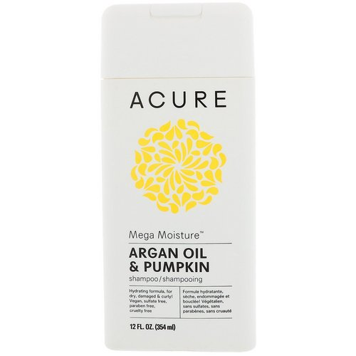 Acure, Mega Moisture Shampoo, Argan Oil & Pumpkin, 12 fl oz (354 ml) Review