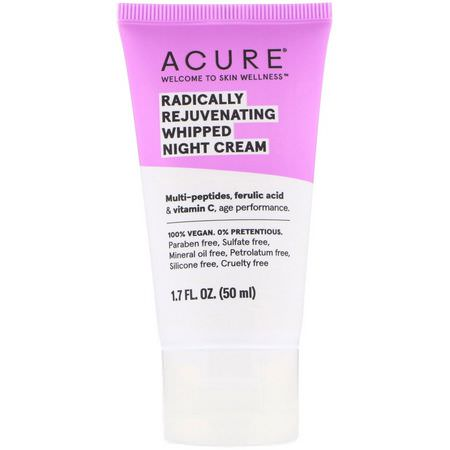 Acure, Night Moisturizers, Creams