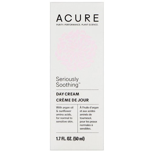Acure, Seriously Soothing, Day Cream, 1.7 fl oz (50 ml) Review
