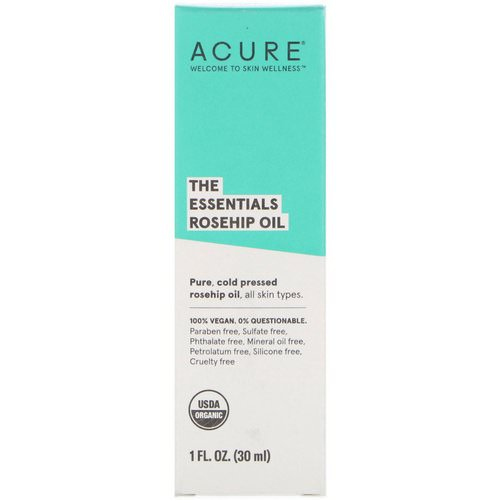 Acure, The Essentials, Rosehip Oil, 1 fl oz (30 ml) Review