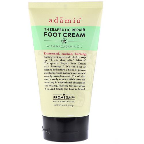 Adamia, Therapeutic Repair Foot Cream with Macadamia Oil, 4 oz (127 g) Review