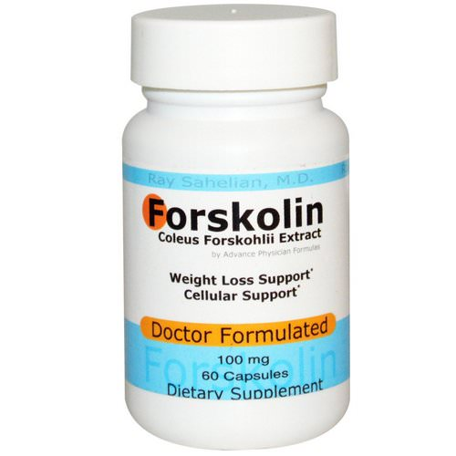 Advance Physician Formulas, Forskolin, Coleus Forskohlii Extract, 100 mg, 60 Capsules Review