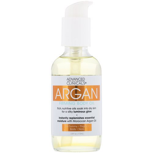Advanced Clinicals, Argan, Firming Body Oil, 3.8 fl oz (112 ml) Review