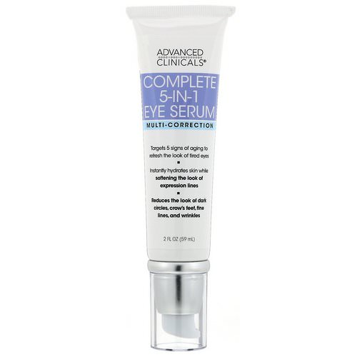 Advanced Clinicals, Complete 5-in-1 Eye Serum, Multi-Correction, 2 fl oz (59 ml) Review