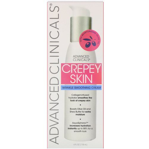 Advanced Clinicals, Crepey Skin, Wrinkle Smoothing Cream, 4 fl oz (118 ml) Review