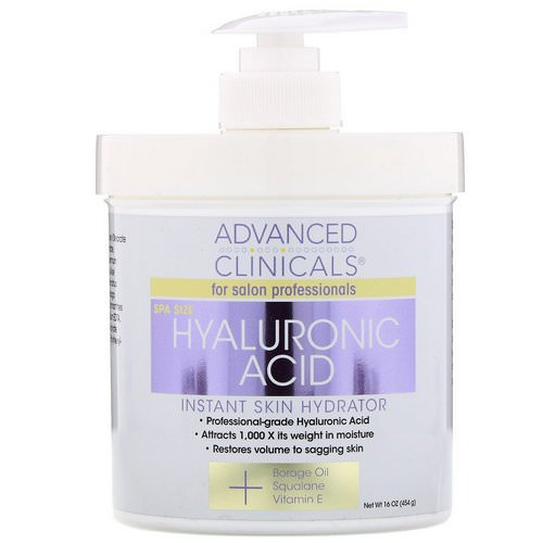 Advanced Clinicals, Hyaluronic Acid, Instant Skin Hydrator, 16 oz (454 g) Review