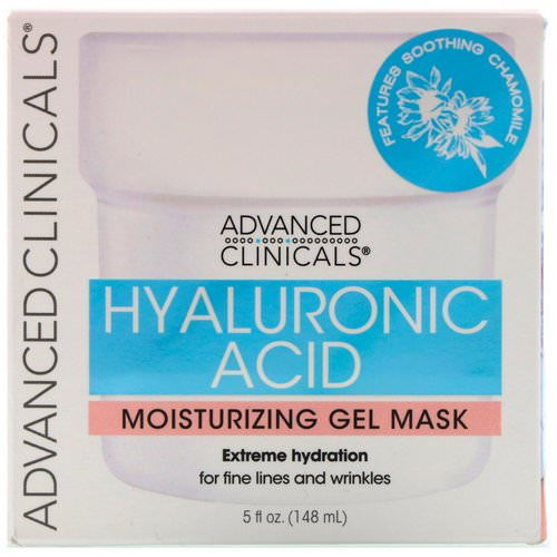 Advanced Clinicals, Hyaluronic Acid, Moisturizing Gel Mask, 5 fl oz (148 ml) Review