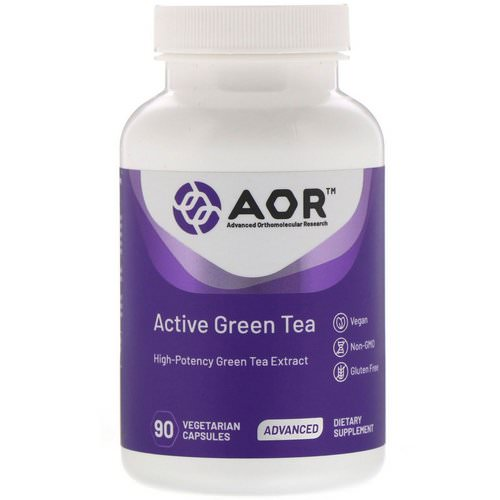 Advanced Orthomolecular Research AOR, Active Green Tea, 90 Vegetarian Capsules Review