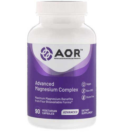 Advanced Orthomolecular Research AOR, Advanced Magnesium Complex, 90 Vegetarian Capsules Review