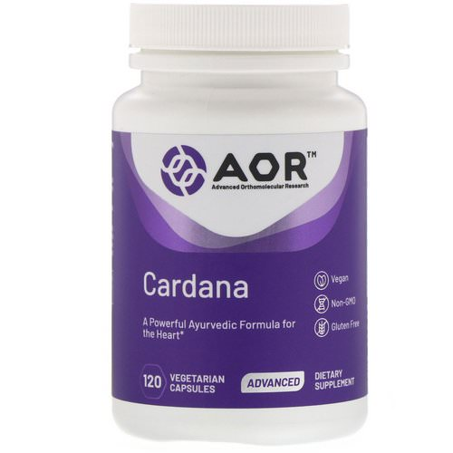 Advanced Orthomolecular Research AOR, Cardana, 120 Vegetarian Capsules Review