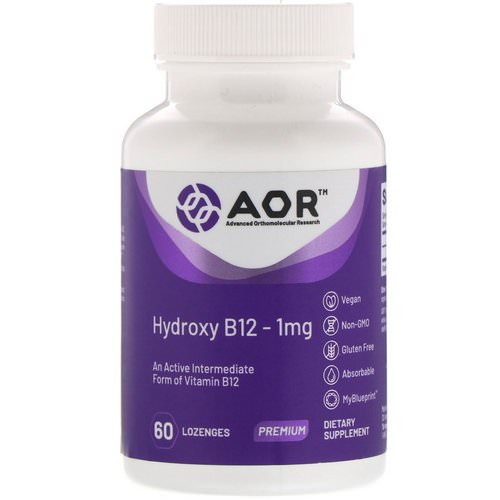 Advanced Orthomolecular Research AOR, Hydroxy B12, 1 mg, 60 Lozenges Review
