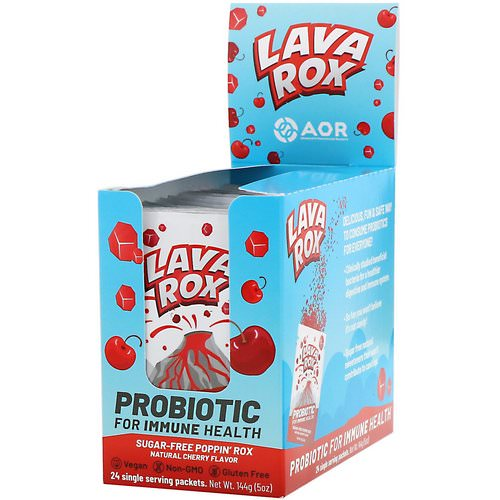 Advanced Orthomolecular Research AOR, Lava Rox, Probiotic for Immune Health, Natural Cherry Flavor, 24 Packets, .2 oz (6 g) Each Review