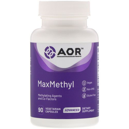 Advanced Orthomolecular Research AOR, MaxMethyl, 90 Vegetarian Capsules Review