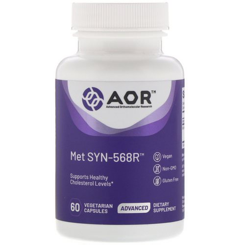 Advanced Orthomolecular Research AOR, Met SYN-568R, 60 Vegetarian Capsules Review