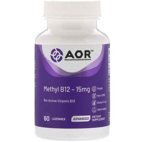 Advanced Orthomolecular Research AOR, Methyl B12, 15 mg, 60 Lozenges Review