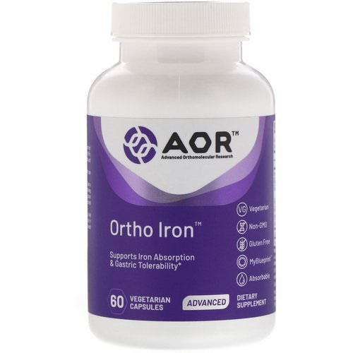 Advanced Orthomolecular Research AOR, Ortho Iron, 60 Vegetarian Capsules Review