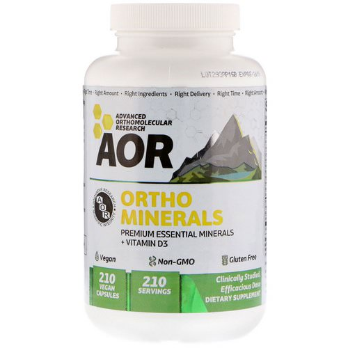 Advanced Orthomolecular Research AOR, Ortho Minerals, 210 Vegan Capsules Review