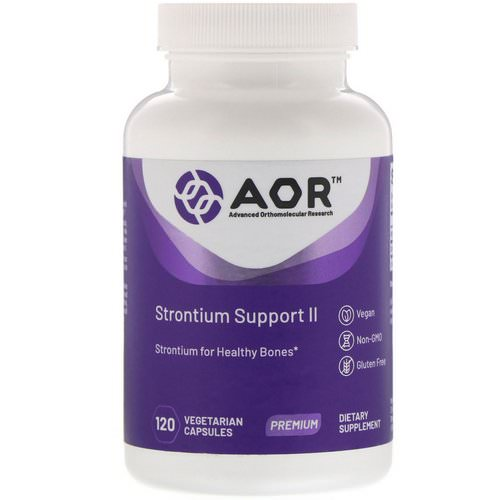 Advanced Orthomolecular Research AOR, Strontium Support II, 120 Vegetarian Capsules Review
