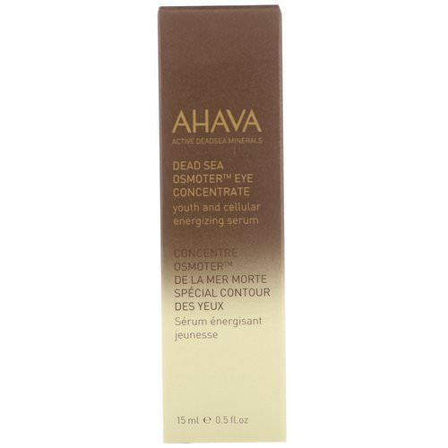 AHAVA, Dead Sea Osmoter, Eye Concentrate, 0.5 fl oz (15 ml) Review