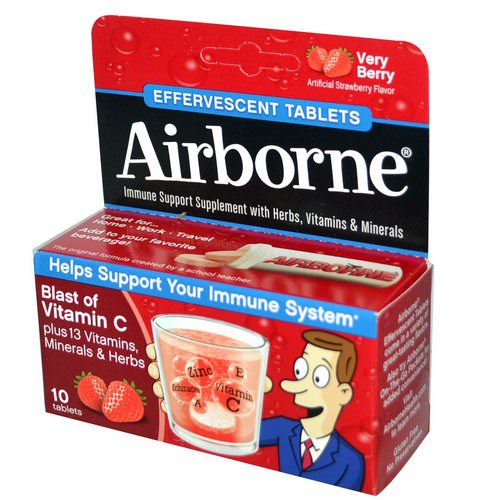 AirBorne, Blast of Vitamin C, Very Berry, 10 Effervescent Tablets Review