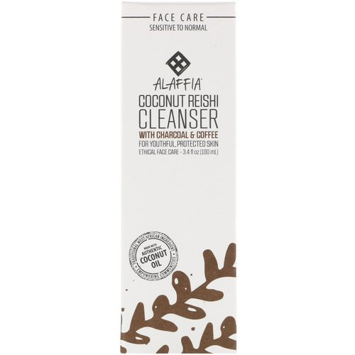 Alaffia, Coconut Reishi Cleanser with Charcoal & Coffee, 3.4 fl oz (100 ml) Review