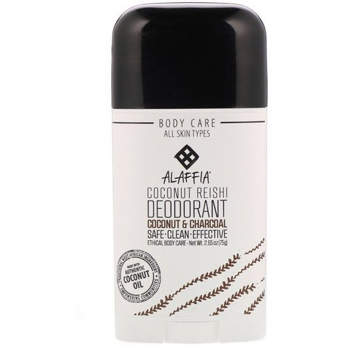 Alaffia, Coconut Reishi, Deodorant, Coconut & Charcoal, 2.65 oz (75 g) Review