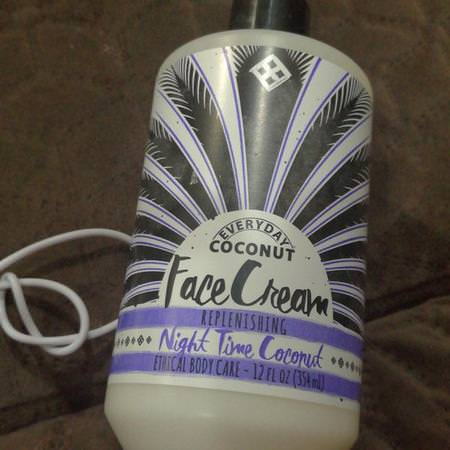 Alaffia, Everyday Coconut, Night Cream, Purely Coconut, 12 fl oz (354 ml) Review
