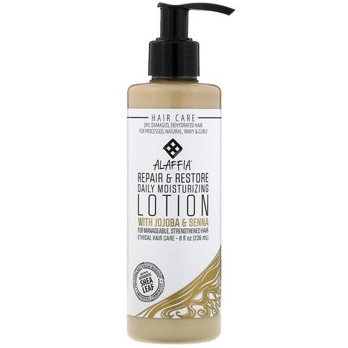 Alaffia, Repair & Restore, Daily Moisturizing Lotion with Jojoba & Senna, 8 oz (236 ml) Review