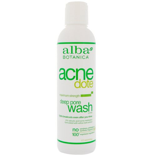 Alba Botanica, Acne Dote, Deep Pore Wash, Oil-Free, 6 fl oz (177 ml) Review