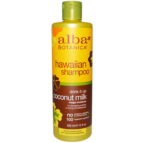 Alba Botanica, Drink it Up Coconut Milk Shampoo, 12 fl oz (355 ml) Review
