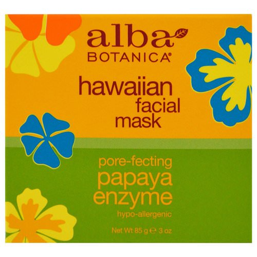 Alba Botanica, Hawaiian Facial Mask, Pore-Fecting Papaya Enzyme, 3 oz (85 g) Review