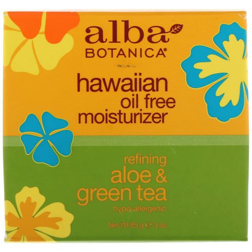 Alba Botanica, Hawaiian Oil Free Moisturizer, Refining Aloe & Green Tea, 3 oz (85 g) Review