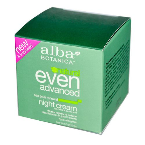Alba Botanica, Natural Even Advanced, Renewal Night Cream, Sea Plus, 2 oz (57 g) Review