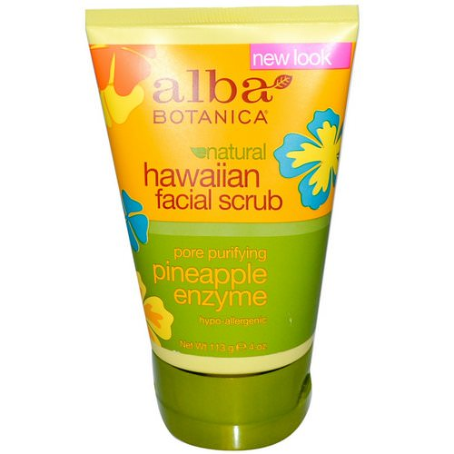 Alba Botanica, Natural Hawaiian Facial Scrub, Pineapple Enzyme, 4 oz (113 g) Review