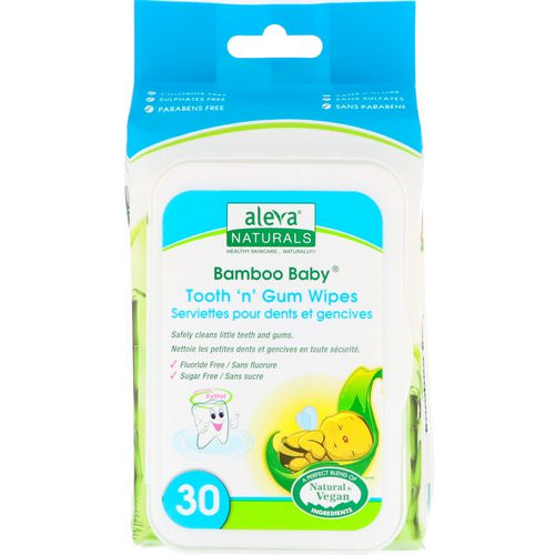 Aleva Naturals, Bamboo Baby Wipes, Tooth 'n' Gum, 30 Wipes Review