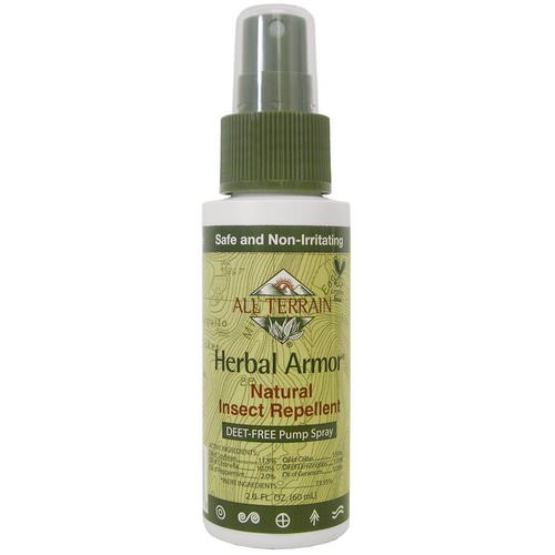 All Terrain, Herbal Armor, Insect Repellant DEET-Free Pump Spray, 2.0 fl oz (60 ml) Review