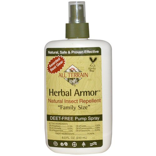 All Terrain, Herbal Armor, Natural Insect Repellent, Deet-Free Pump Spray, 8.0 fl oz (240 ml) Review